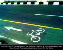 malaysia penang bike lane parking