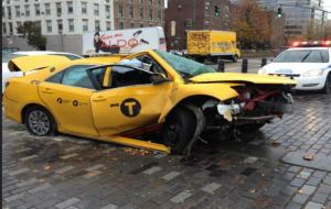 USA NYC taxi accident