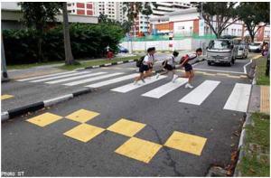 malaysia penang dangerous street crossing