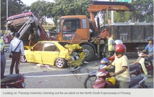 malaysia Penang - traffic accident