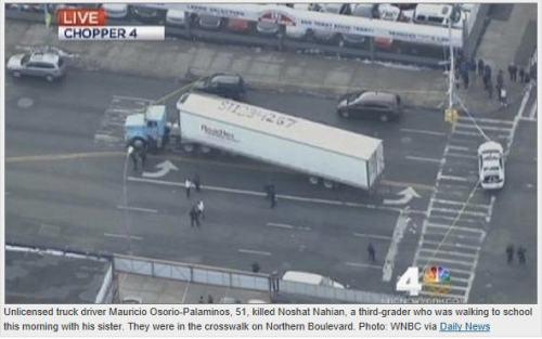 traffic death New York child truck