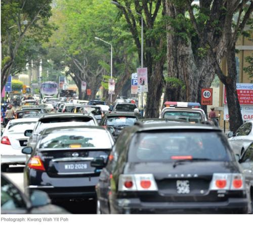 Malaysia Penang heavy traffic in GT