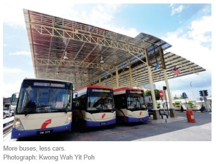 Malaysia Penang more buses less cars