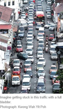 penang road traffic bladder