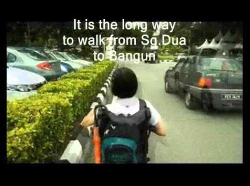 penang wheelchair user on street