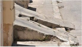 Malta  poor sidewalks
