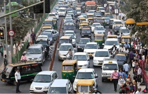 india car traffic