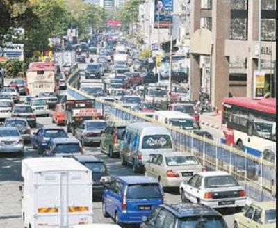 malaysia penang heavy traffic