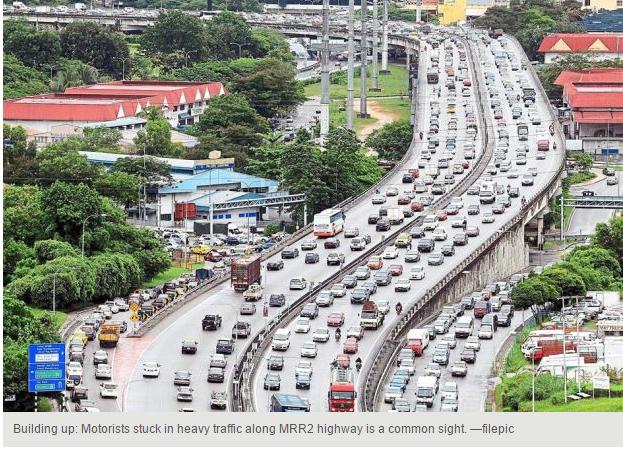 Malaysia Penang mega traffic