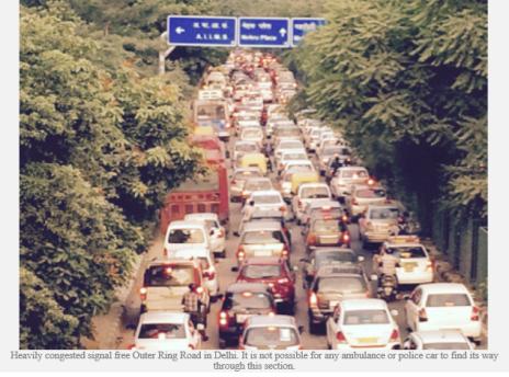 india Delhi congested ring road