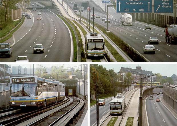 O-Bahn in Essen - montage