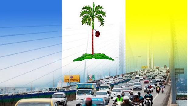 Penang bridge traffic
