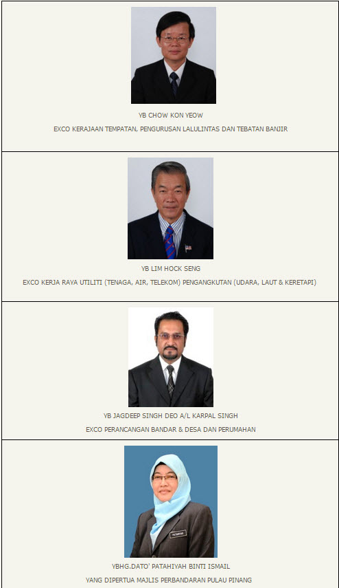 Penang transport Council members 1