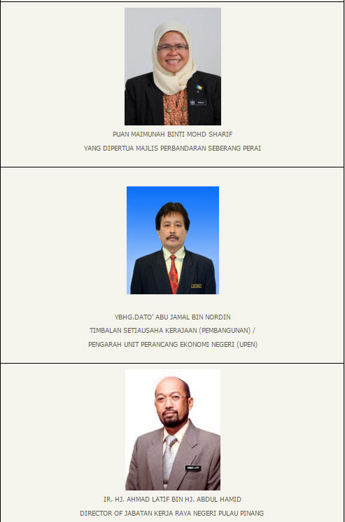 Penang transport Council members 2