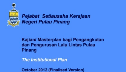 Penang Halcrow Insitutionnal Plan report cover top half