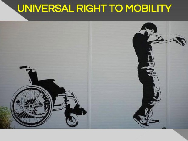 Universal right to mobility wheelchair