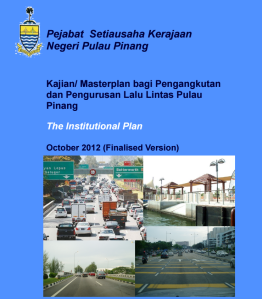 Penang Halcrow report cover Insitutional Plan