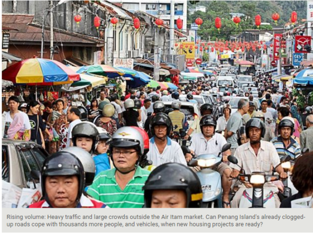Penang motorcyles heavy traffic