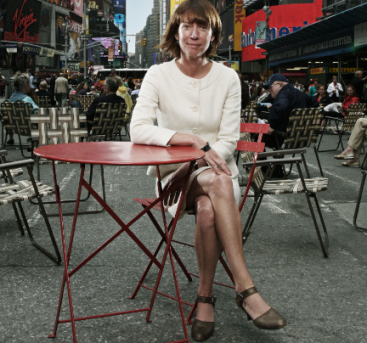 Janette Sadik-Khan in the middle of braodway