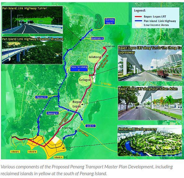 Malaysia Penang PTMP project map