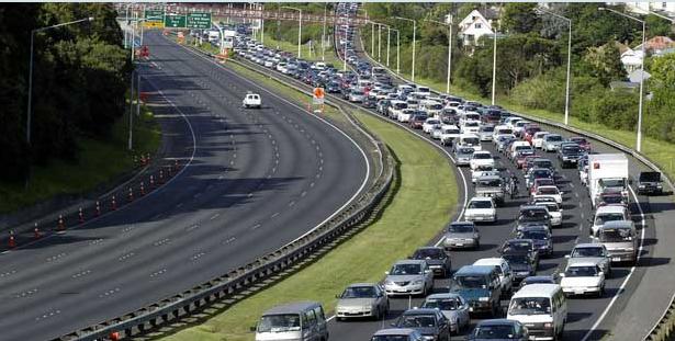 New Zealand - Auckland - rush hour traffic