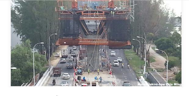 Penang traffic road construction - massive