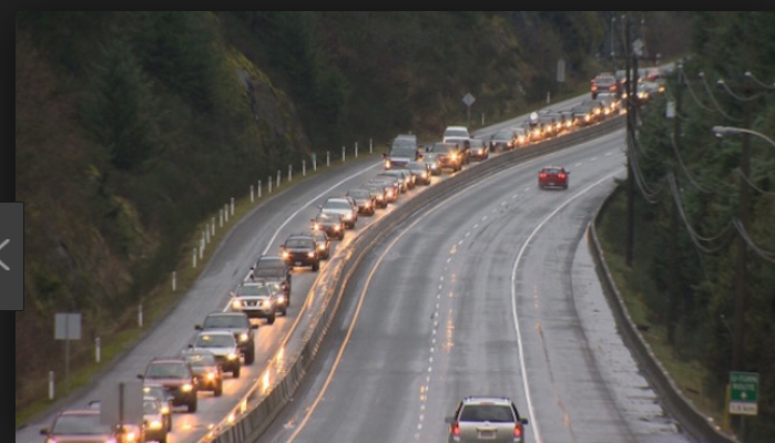 Canada Malahat Highway congestion traffic