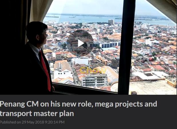 Penan CM Chow overlooking Penang