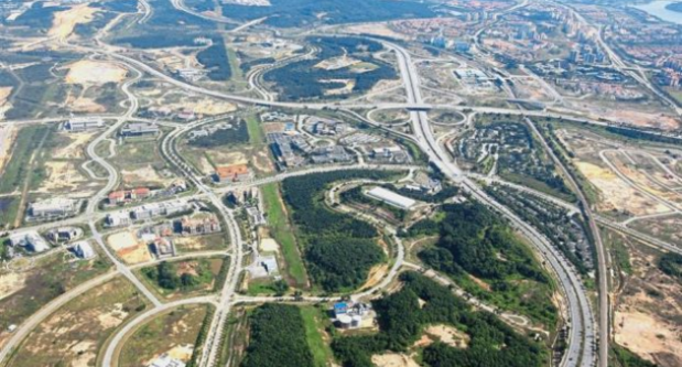 Penang aerial photo of highly devloped road system - from Joshua Woo